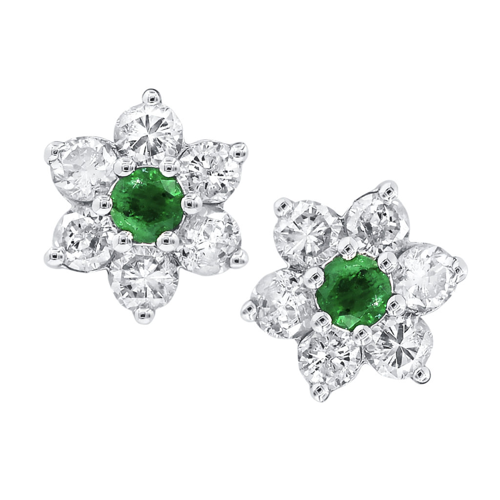 Stud-style flower earrings