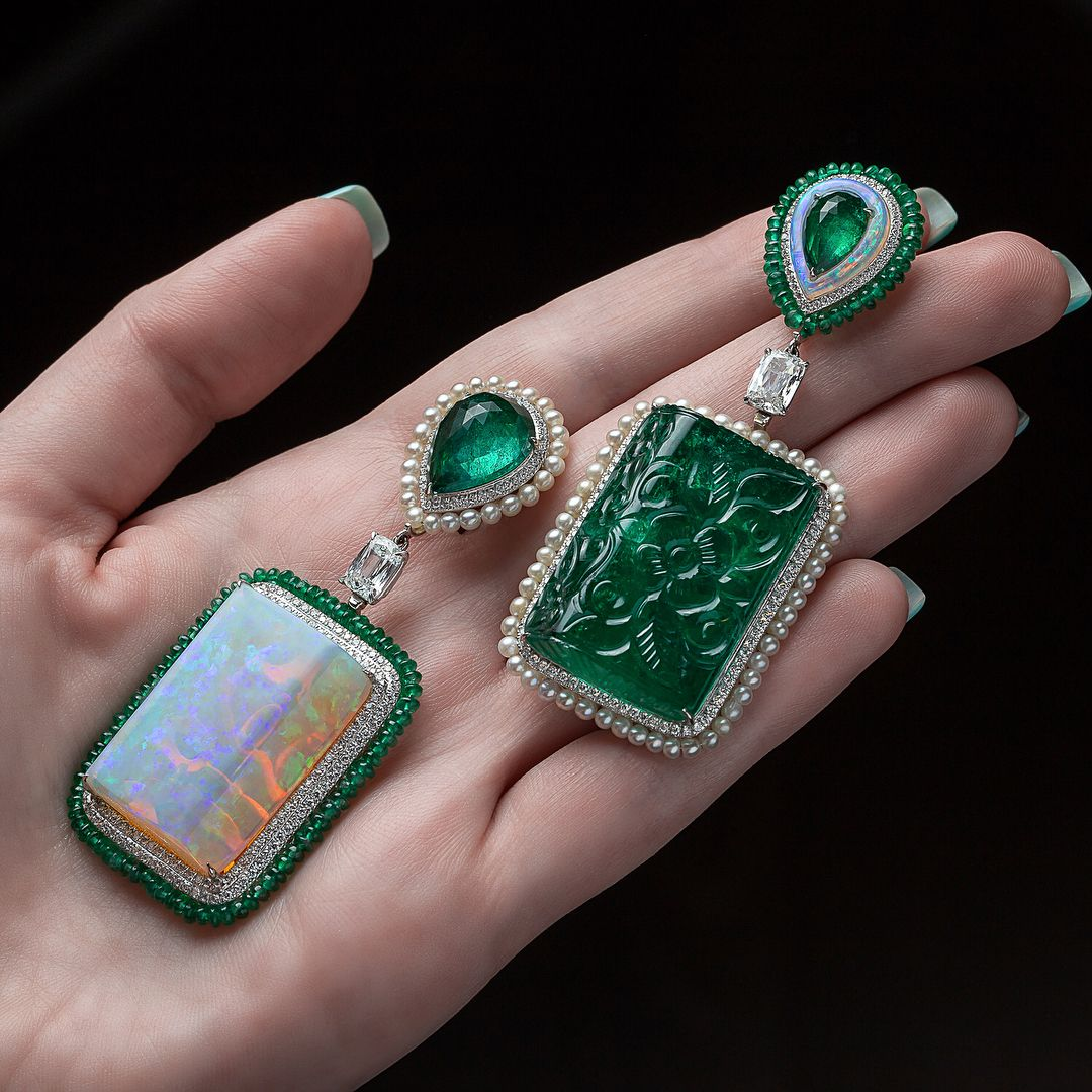 Opal and Emerald Earrings Styles to Buy Right Now