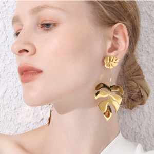 Leaf Statement Earrings