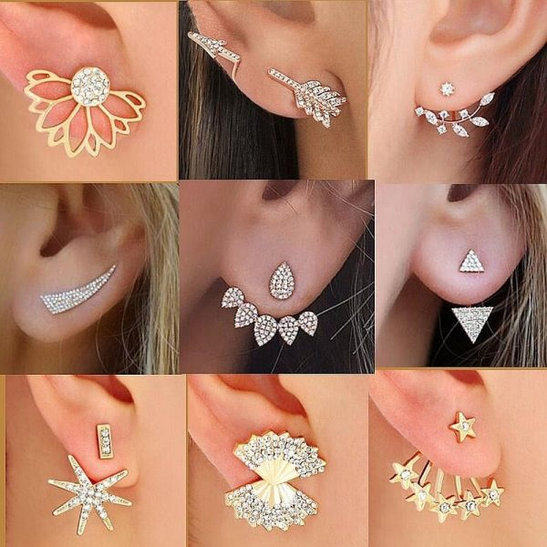 crystal jacket earrings