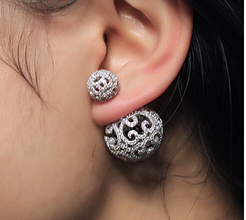 double-sided crystal earrings