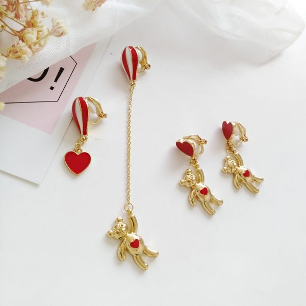 balloon bear earrings