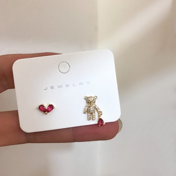 bear stud earrings